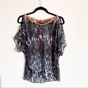 Tops - Express Cold Shoulder Short Sleeve Blouse Size EUC